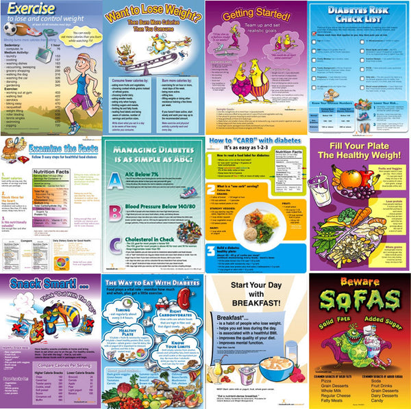 12 Lessons Diabetes Poster Bundle