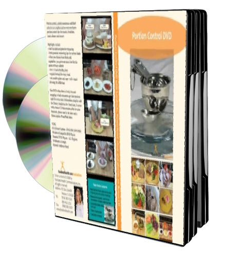 Portion Control DVD/CD Video PowerPoint - Nutrition Education DVD - Nutrition Education Store