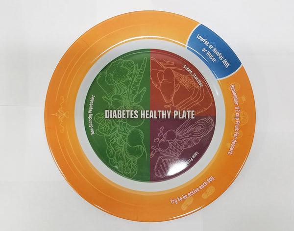 SECONDS - Diabetes Healthy Plate - Diabetes Version of MyPlate - 50 Pack - Nutrition Education Store