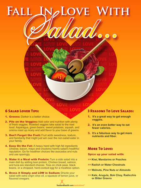 Fall In Love With Salad Poster