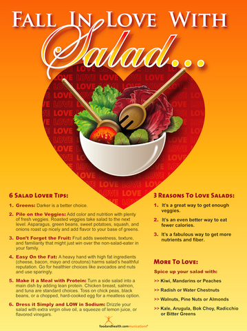 Fall In Love With Salad Poster - Nutrition Education Store