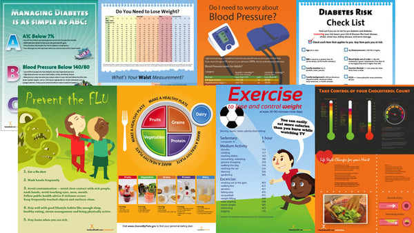 Exam Room Eight Poster Package 12x18 - Nutrition Education Store