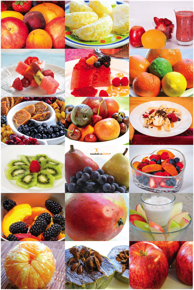 Fruit Photos Poster 12X18 - Nutrition Education Store