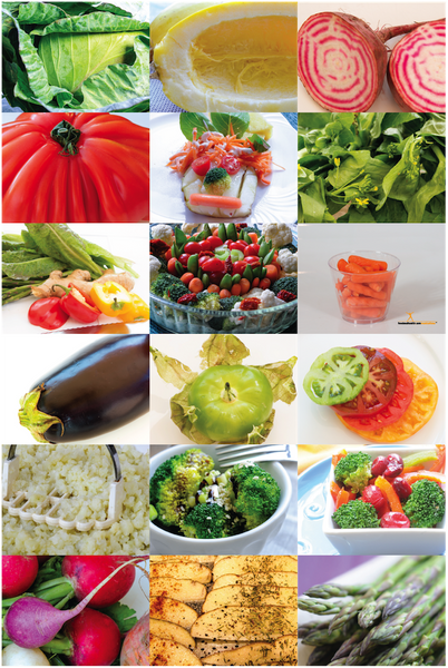 Vegetable Photos Poster 12X18