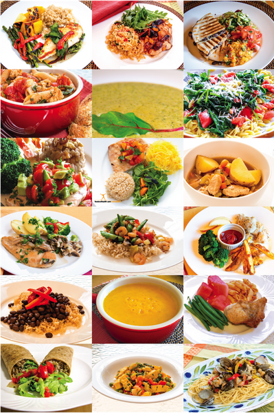 Healthy Food Photos Poster 12X18