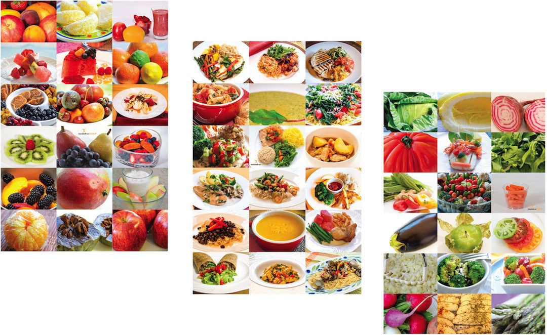 Healthy Food Photo Poster Set 12X18 - 3 Posters 36X28 total display size - Nutrition Education Store