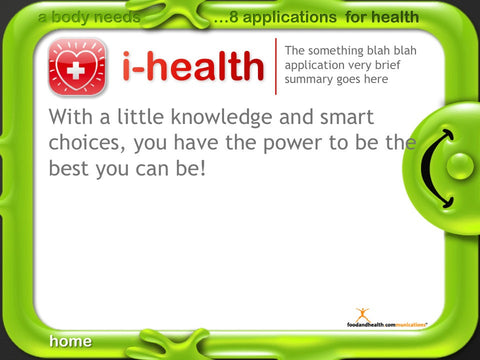 8 Applications for Health Kids Adults Wellness Weight Loss Program - Nutrition Education Store