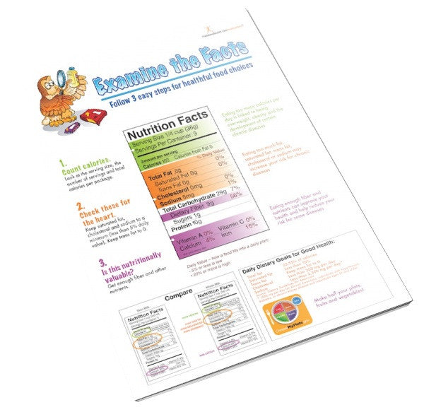 Food Label Handout Tearpad - Nutrition Education Store