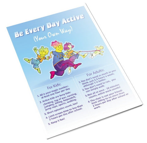 Exercise Color Handout Tearpad - Nutrition Education Store