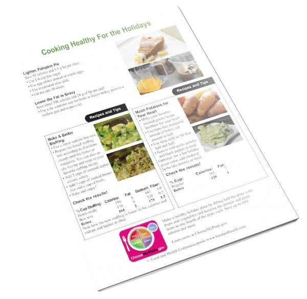 Holiday Color Handout Tearpad - Nutrition Education Store