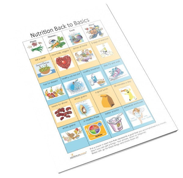 Nutrition Bingo Color Handout Tearpad