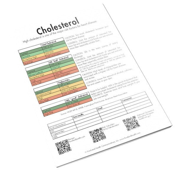 Cholesterol Color Handout Download - Nutrition Education Store