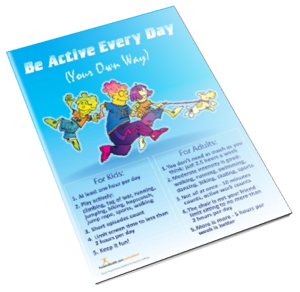 Be Active Every Day Color Handout Download - Nutrition Education Store