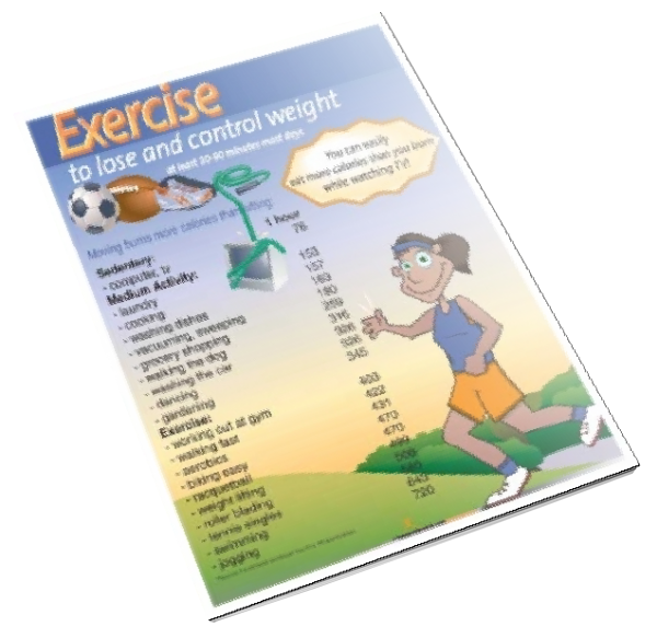 Exercise to Lose and Control Weight Color Handout Download - Nutrition Education Store