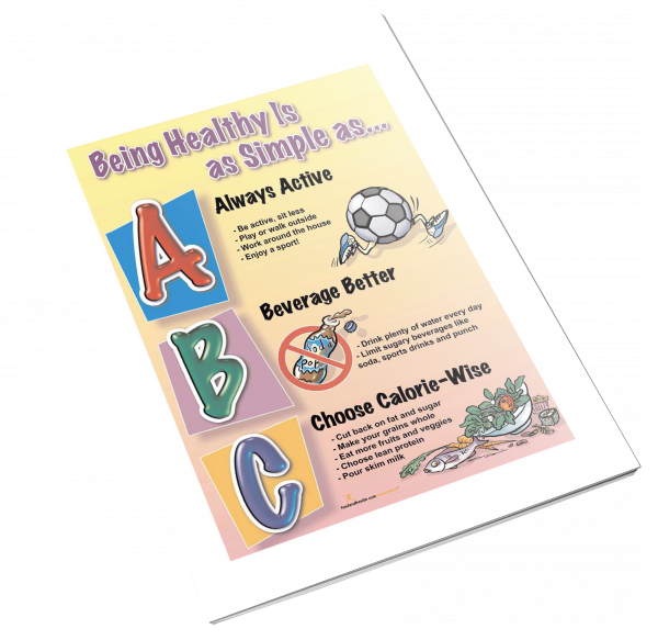 Being Healthy is as Simple as ABC Color Handout Download - Nutrition Education Store