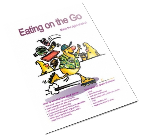 Eating On the Go: Fast Food Alternatives Color Handout Download - Nutrition Education Store