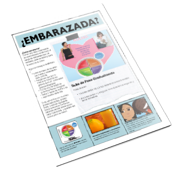 MyPlate for Pregnant Moms Spanish Color Tearpad