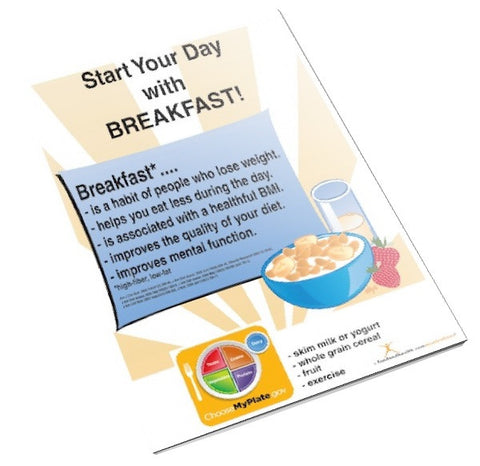 Start Your Day with Breakfast Color Handout Download - Nutrition Education Store