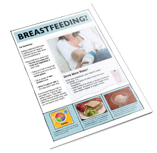 MyPlate for Breastfeeding Moms Color Tearpad - Nutrition Education Store