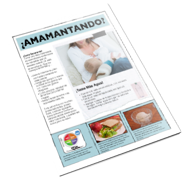 MyPlate for Breastfeeding Moms Spanish Color Tearpad