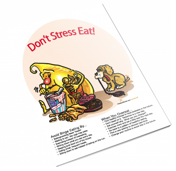 Stress Eating and Food Cravings Color Handout Download
