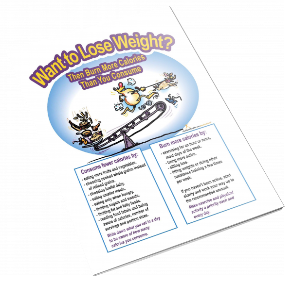 Want to Lose Weight? Color Handout Download