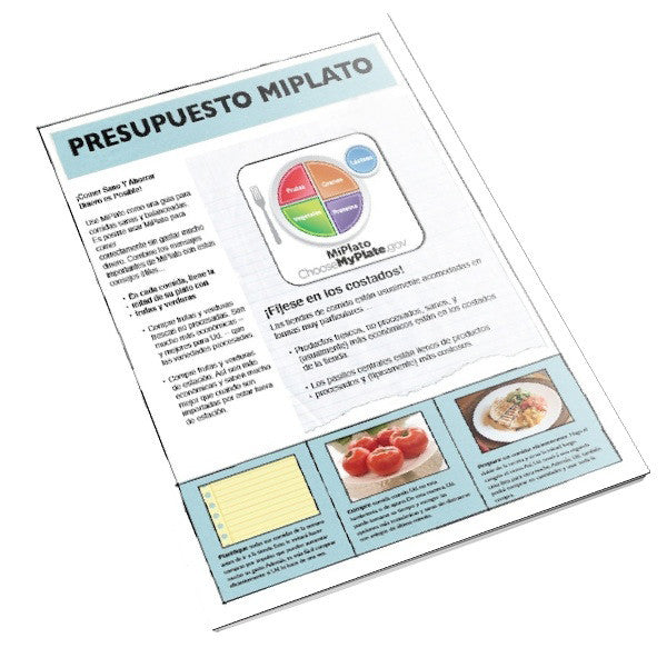 MyPlate On a Budget Spanish Tearpad