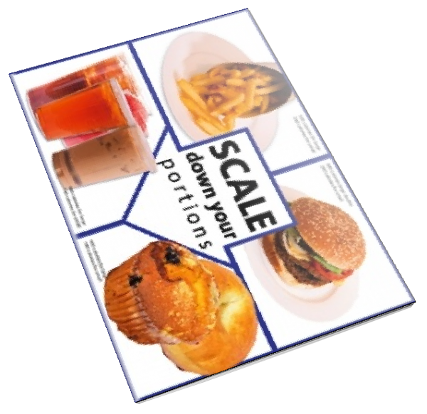 Scale Down Your Portions Color Tearpad - Nutrition Education Store