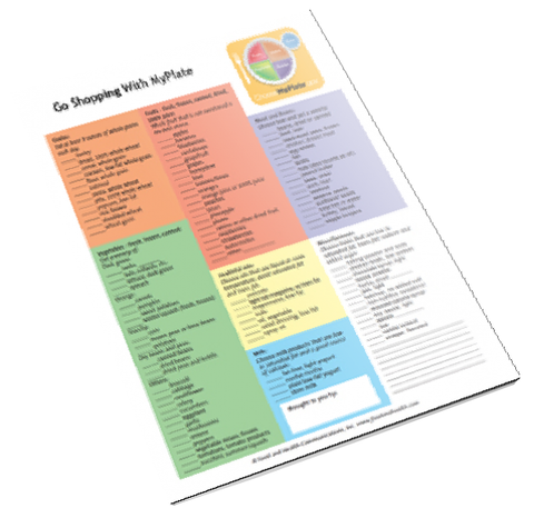 MyPlate Shopping Tearpad - Nutrition Education Store