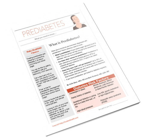 Prediabetes Color Handout Tearpad - Nutrition Education Store