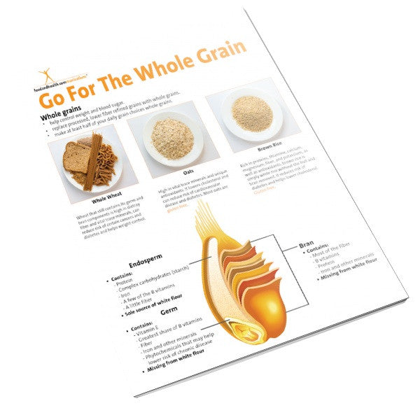 All About Whole Grains Tearpad - Color Handout Tearpad - Nutrition Education Store