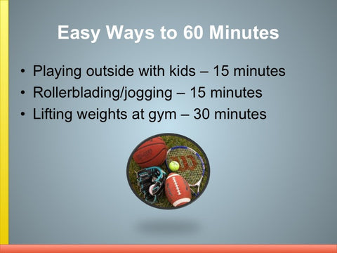 60 Minutes of Exercise - Exercise PowerPoint and Handout Set - DOWNLOAD - Nutrition Education Store