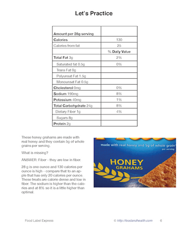 Food Label PowerPoint Express