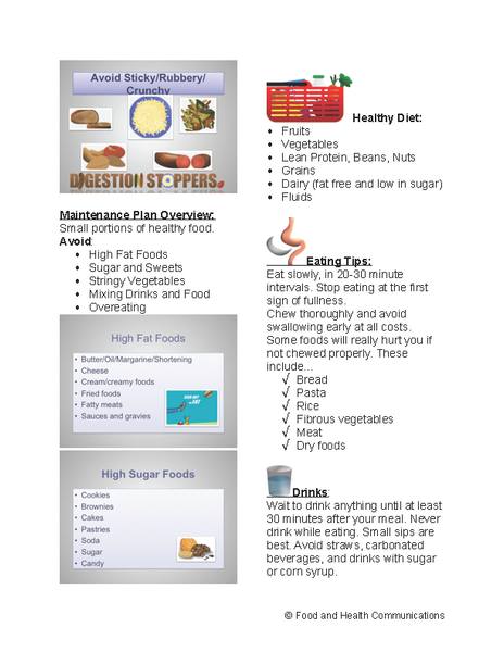 Bariatric Diet Powerpoint And Handout Lesson 49 00