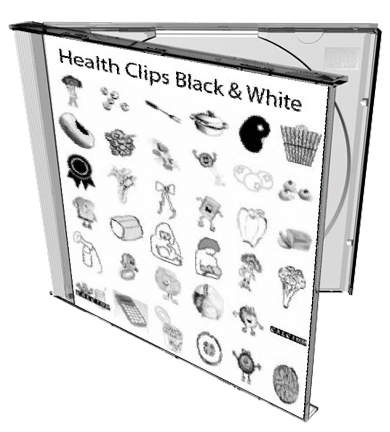 Health Clips Black and White Clipart