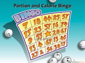 Portion and Calorie Bingo Game - Nutrition Education Store