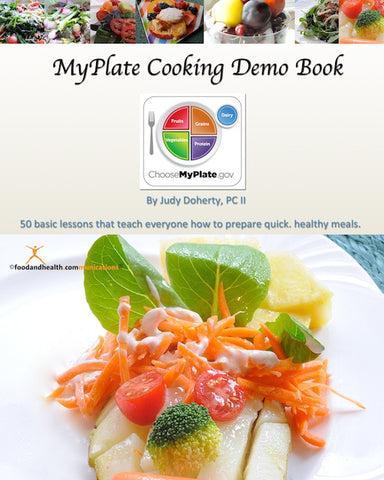 MyPlate Cooking Demo Ideas Book and CD - Nutrition Education Store