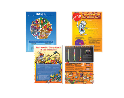 Heart Health Poster Value Set - Nutrition Education Store