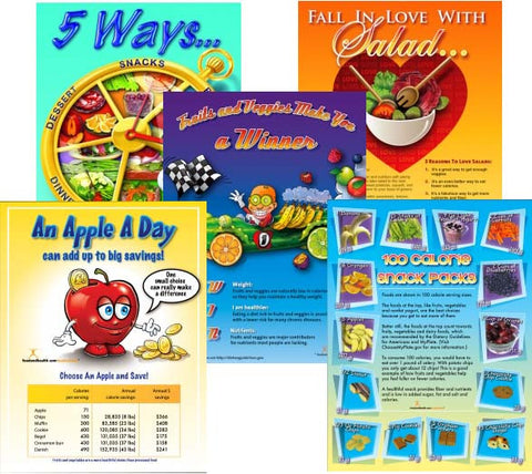 Fruits and Vegetables Poster Value Set - Nutrition Education Store