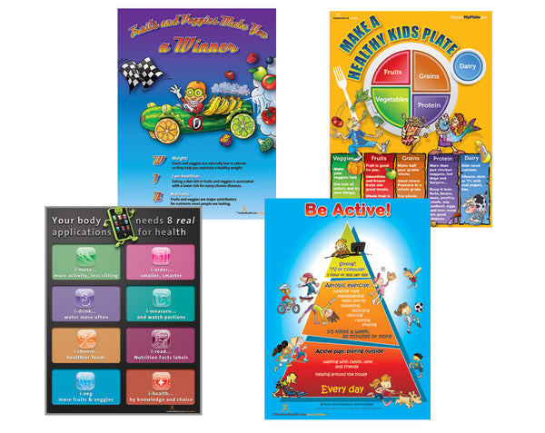 Healthy Kids Nutrition Poster Value Set - Nutrition Education Store