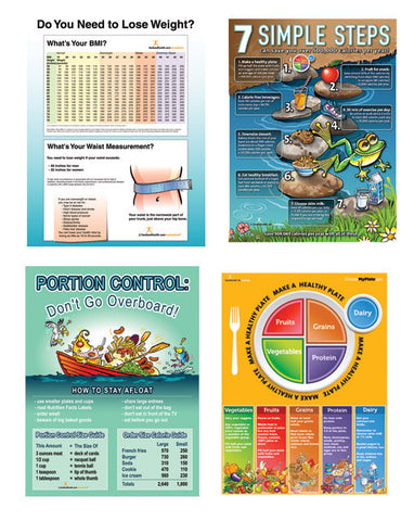Weight Control Poster Value Set - Nutrition Education Store