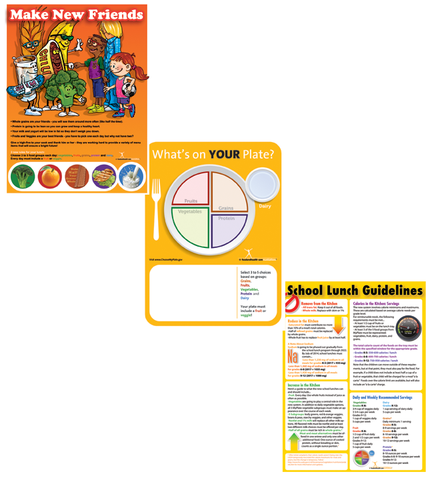 School Lunch Poster Value Set - Nutrition Education Store