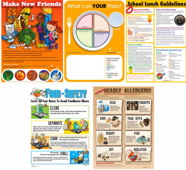Complete School Lunch Poster Value Set - Nutrition Education Store
