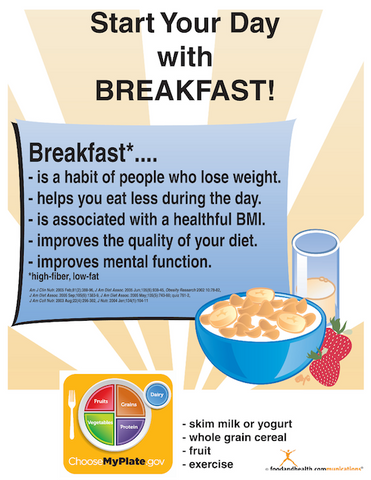 Start Your Day with Breakfast Color Handout Download