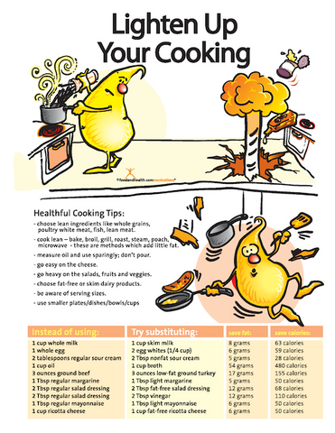 Lighten Up Your Cooking Color Handout Download - Nutrition Education Store
