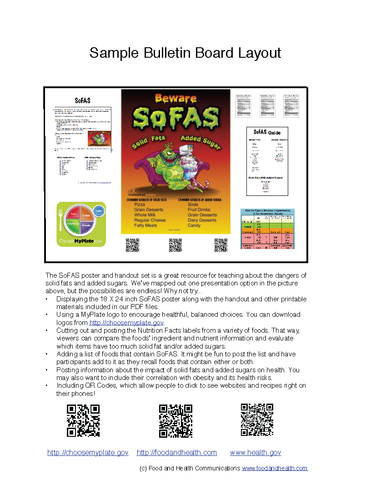 SoFAS Poster - Nutrition Education Store