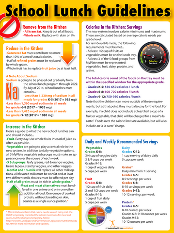 School Lunch Guidelines Poster - Nutrition Education Store