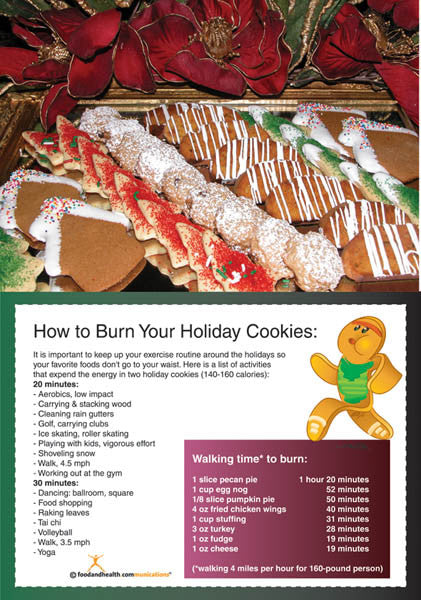 Holiday Exercise Poster - Nutrition Education Store