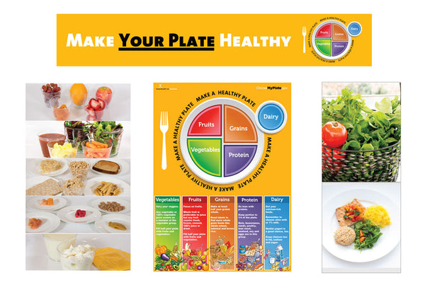 MyPlate Bulletin Board Kit - Adult Version