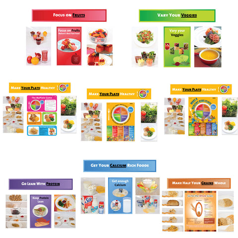 8 Bulletin Board Kit Package - My Plate Bulletin Board Kit - Nutrition Education Store